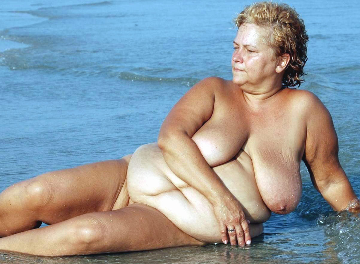 Plump women nude at the beach remarkable, very